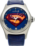 "Timepieces:Wristwatch, Corum ""Superman"" Bubble Prototype 1 of 1 Watch made for Warner BrosRef. 082.130.20. ..."