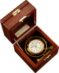 "Timepieces:Pocket (post 1900), Hamilton Model 22 Deck Watch, Case Back Marked ""Gimbal Chronometer U.S. Army 2F15015"". ..."