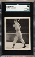 Baseball Cards:Singles (1930-1939), 1939 Play Ball Ted Williams #92 SGC 92 NM/MT+ 8.5....