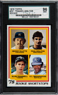 Baseball Cards:Singles (1970-Now), 1978 Topps Molitor/Trammell - Rookie Shortstops #707 SGC 96Mint....