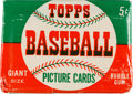 Baseball Cards:Unopened Packs/Display Boxes, 1952 Topps Baseball Five Cent Wax Pack. ...