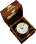 Timepieces:Pocket (post 1900), Hamilton Model 21 Fusee Detent Chronometer With Wind Indicator. ...