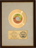"Music Memorabilia:Awards, Beatles ""I Want to Hold Your Hand "" RIAA White Matte Gold Record Sales Award (Capitol 5112, 1963)...."