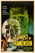 """Movie Posters:Horror, The Ghost of Frankenstein (Realart, R-1948). One Sheet (27"""" X41"""").. ..."""