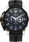 Timepieces:Wristwatch, Corum Admirals Cup 50 Left Hand Sided Chronograph Ltd Ed 658/888. ...