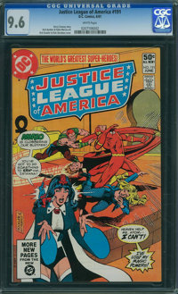 Justice League of America #191 (DC) CGC NM+ 9.6 WHITE pages
