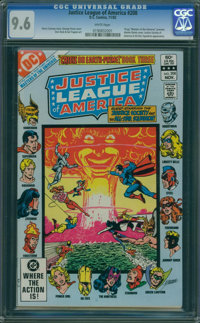 Justice League of America #208 (DC, 1982) CGC NM+ 9.6 White pages