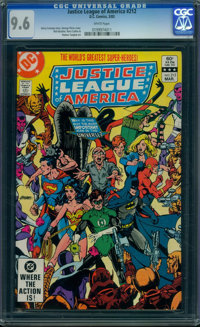 Justice League of America #212 (DC, 1983) CGC NM+ 9.6 WHITE pages