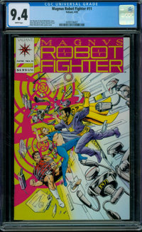 Magnus Robot Fighter #11 (Valiant, 1992) CGC NM 9.4 WHITE pages