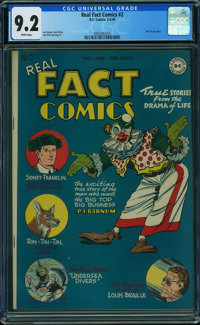 Real Fact Comics #2 (DC, 1946) CGC NM- 9.2 WHITE pages