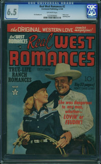 Real West Romances #2 (Prize, 1949) CGC FN+ 6.5 Off-white pages