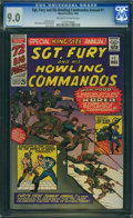 Silver Age (1956-1969):War, Sgt. Fury and His Howling Commandos Annual #1 (Marvel, 1965) CGC VF/NM 9.0 OFF-WHITE TO WHITE pages.