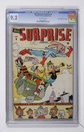 """Golden Age (1938-1955):Funny Animal, All Surprise #4 Davis Crippen (""""D"""" Copy) pedigree (Timely, 1944)CGC NM- 9.2 Off-white pages...."""