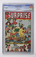 "Golden Age (1938-1955):Funny Animal, All Surprise #3 Davis Crippen (""D"" Copy) pedigree (Timely, 1944)CGC VF/NM 9.0 Off-white to white pages...."