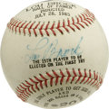 Autographs:Baseballs, Lou Brock Single Signed Photoball. In addition to the perfect sweetspot signature that this ball wears, it has also been g...