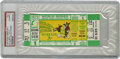 Baseball Collectibles:Tickets, 1973 World Series Game 1 Full Ticket, PSA Authentic. This colorfulfull ticket from the 1973 World Series marks a particula...