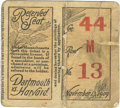 Football Collectibles:Tickets, 1909 Dartmouth vs. Harvard Football Ticket Stub. Since each of these storied Ivy League institutions has been around since ...