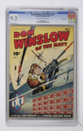 Golden Age (1938-1955):War, Don Winslow of the Navy #15 Crowley Copy pedigree (Fawcett, 1944)CGC NM- 9.2 Cream to off-white pages....