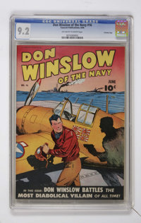 Don Winslow of the Navy #16 Crowley Copy pedigree (Fawcett, 1944) CGC NM- 9.2 Off-white to white pages