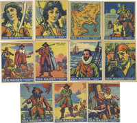 1933 World Wide Gum (Canadian Goudey, R-124) Searaider Group Lot of 43. Pirates, explorers and ships are the subject mat...