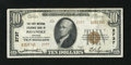 National Bank Notes:Virginia, Roanoke, VA - $10 1929 Ty. 2 The First National Exchange Bank Ch. #2737. The embossing is still bold, evidence of this ...