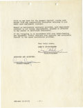 Movie/TV Memorabilia:Autographs and Signed Items, Ronald Reagan Signed Contract. A two-page, double-sided contract onMGM letterhead dated December 16, 1953, modifying Reagan...