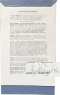 Music Memorabilia:Autographs and Signed Items, Karen and Richard Carpenter Signed Contract. A three-page leaseagreement between Karen and Richard Carpenter and Safeway St...