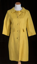 American:Academic, A Zsa Zsa Gabor Group of Designer Coats, Circa 1960s.. Three totalincluding: 1) yellow linen, knee-length, three-quarter-le...(Total: 3 Items)