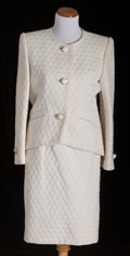 American:Academic, A Zsa Zsa Gabor Group of Designer Clothing, Circa 1960s-1970s..Three total including: 1) a beige silk dress, floor-length, ...(Total: 3 Items)