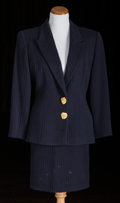 American:Academic, A Zsa Zsa Gabor Group of Fancy Evening Suits, Circa 1980s.. Twototal including: 1) a navy blue textured wool jacket, peaked...(Total: 4 Items)