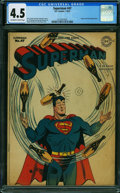 Golden Age (1938-1955):Superhero, Superman #47 (DC, 1947) CGC VG+ 4.5 OFF-WHITE TO WHITE pages.