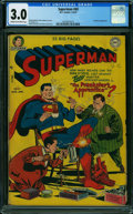 Golden Age (1938-1955):Superhero, Superman #69 (DC, 1951) CGC GD/VG 3.0 CREAM TO OFF-WHITE pages.