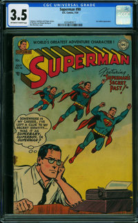 Superman #90 (DC, 1954) CGC VG- 3.5 OFF-WHITE TO WHITE pages
