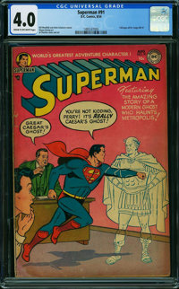 Superman #91 (DC, 1954) CGC VG 4.0 CREAM TO OFF-WHITE pages
