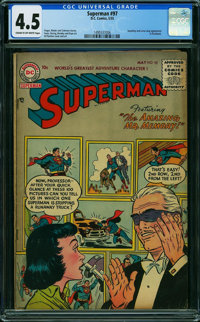 Superman #97 (DC, 1955) CGC VG+ 4.5 CREAM TO OFF-WHITE pages