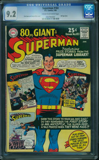 Superman #183 (DC, 1966) CGC NM- 9.2 CREAM TO OFF-WHITE pages