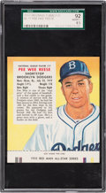 Baseball Cards:Singles (1950-1959), 1955 Red Man (With Tab) Pee Wee Reese #17N SGC 92 NM/MT+ 8.5 - PopTwo, None Higher! ...