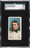 Baseball Cards:Singles (Pre-1930), 1910-11 M116 Sporting Life Honus Wagner (Blue Background) SGC 35Good+ 2.5....