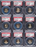 Baseball Cards:Lots, 1909-12 P2 Sweet Caporal Baseball Pins PSA Collection (19). ...