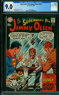 Superman's Pal Jimmy Olsen #124 (DC, 1969) CGC VF/NM 9.0 OFF-WHITE TO WHITE pages