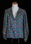 American:Academic, A Zsa Zsa Gabor Group of Designer Blouses, Circa 1970s-1980s.. Fourtotal including: 1) a cotton peasant style one in a blue... (Total:4 Items)