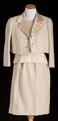American:Academic, A Zsa Zsa Gabor Pair of Day Suits, Circa 1960s-1970s.. Two total;the first from the early 1960s: a beige and white houndsto...(Total: 2 Items)