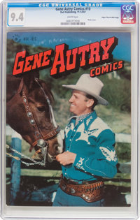 Gene Autry Comics #10 Mile High Pedigree (Dell, 1947) CGC NM 9.4 White pages