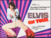 "Elvis on Tour (MGM, 1972). Folded, Fine/Very Fine. British Quad (30"" X 40""). Elvis Presley"
