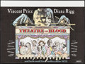 "Movie Posters:Horror, Theatre of Blood (United Artists, 1973). British Quad (30"" X 40""). Horror.. ..."
