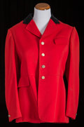 American:Academic, A Zsa Zsa Gabor Pair of Riding Jackets, 1980s.. Two total; thefirst red wool, black velvet collar, peaked lapels, ...
