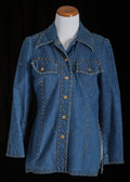 American:Academic, A Zsa Zsa Gabor Set of Clothing, Circa 1970s.. Two total; the firsta jean jacket, pointed collar, two front breast pockets,... (Total:2 Items)