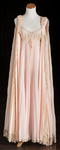 American:Academic, A Zsa Zsa Gabor Group of Night Gowns, Circa 1960s.. Four totalincluding: 1) a pale pink satin negligee, lace top and hem, a...(Total: 4 Items)