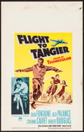 "Movie Posters:Action, Flight to Tangier & Other Lot (Paramount, 1953). Window Cards(2) (14"" X 22""). Action.. ... (Total: 2 Items)"