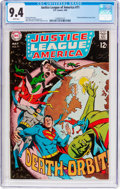 Silver Age (1956-1969):Superhero, Justice League of America #71 (DC, 1969) CGC NM 9.4 White pages....